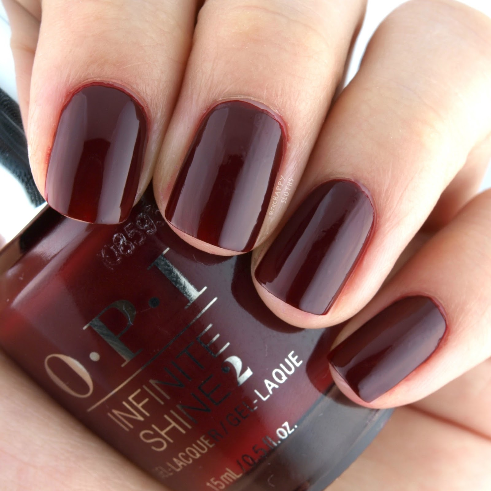 OPI Infinite Shine Got the Blues for Red Swatches Review