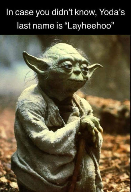 In case you didn't know, Yoda's last name is Layheehoo