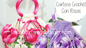 Bolso con rosas al crochet / esquemas crochet