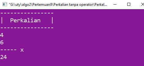 Program perkalian tanpa operator *