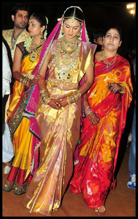 Sparkling Fashion Celebrities In Bridal Wear