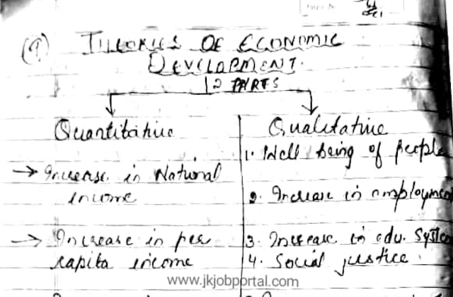 Hand written Notes for JKSSB supervisor Exam | Stages of Economic Development PDF