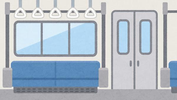 電車内のイラスト(背景素材)