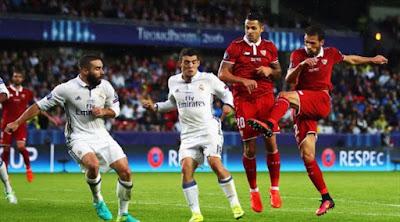 بالفيديو : ريال مدريد يتوج بالسوبر الأوروبي على حساب إشبيلية في مباراة مجنونة