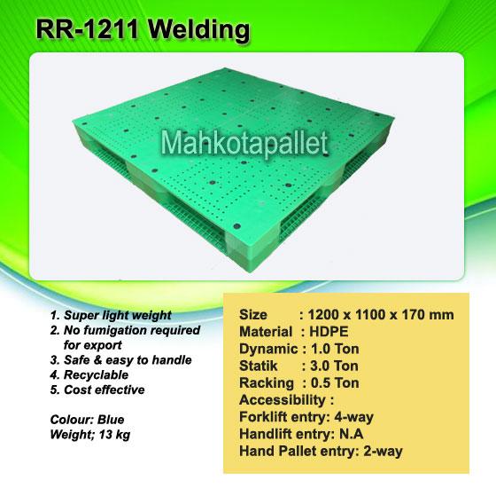 Pallet plastik RR-1211 Welding