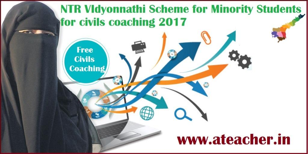 NTR VIdyonnathi Scheme for Minority Students for civils coaching 2017