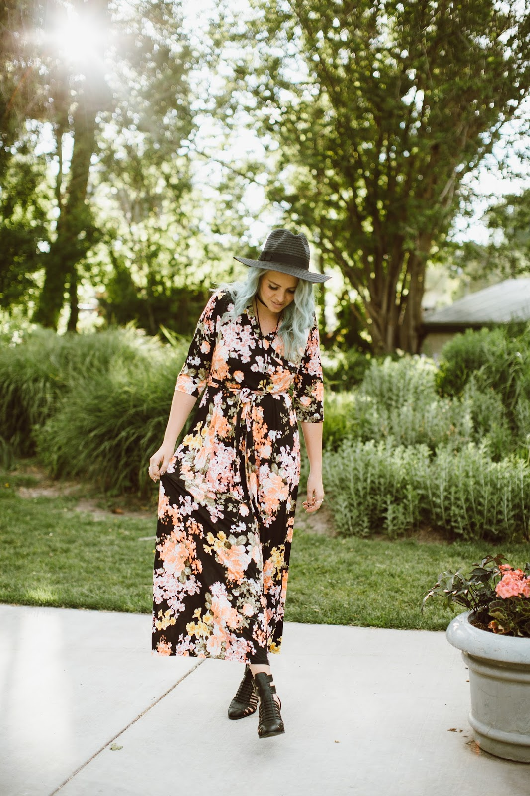 Floral Dress, Long Floral Dress, Spring Outfit