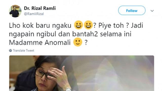 Rizal Ramli Sindir Sri Mulyani soal Utang Jatuh Tempo 409 T: Lho Kok Baru Ngaku?