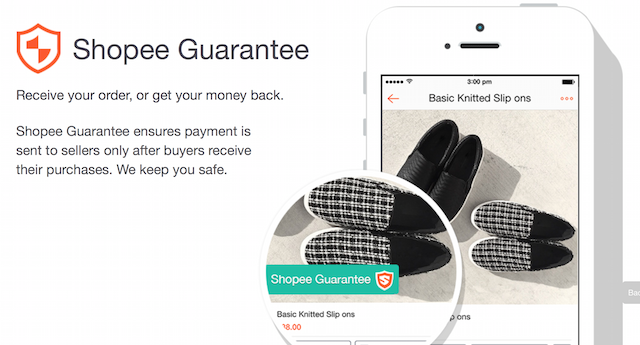 We have their guarantee too, that we are safe transacting through Shopee