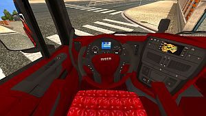 Red & Gray interior skin for Iveco Hi-Way