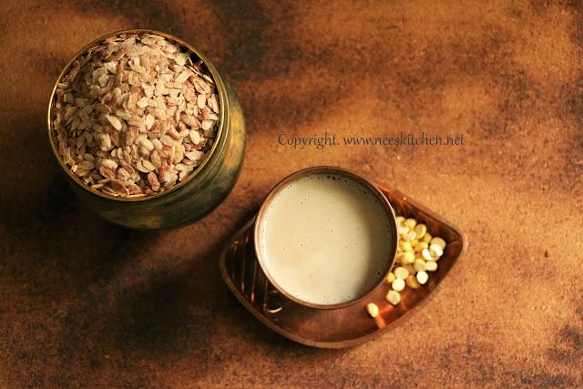 Red Rice Aval (Poha),Ragi,Roasted Gram & Urad dhal Kanji