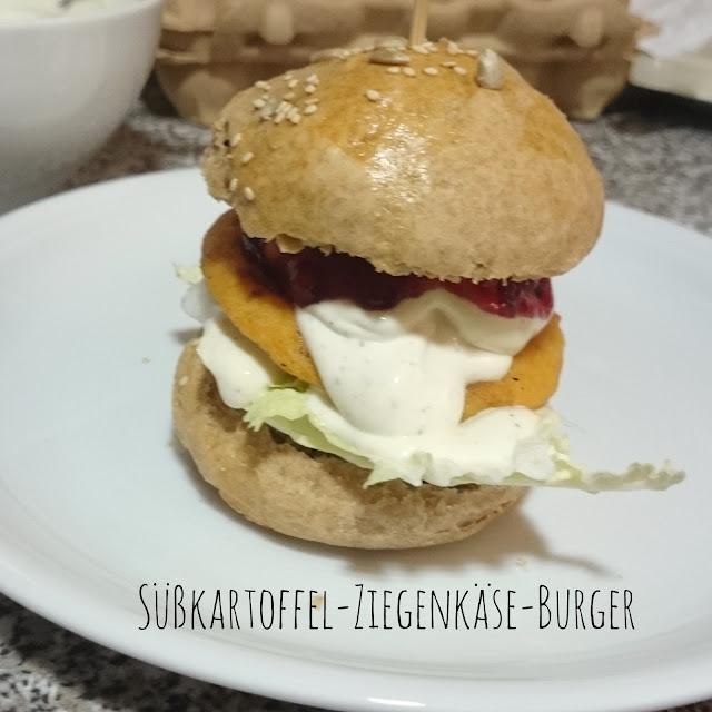 [Food] Süßkartoffel-Ziegenkäse-Burger