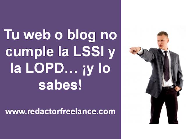 como cumplir la lopd y la lssi en tu web o blog
