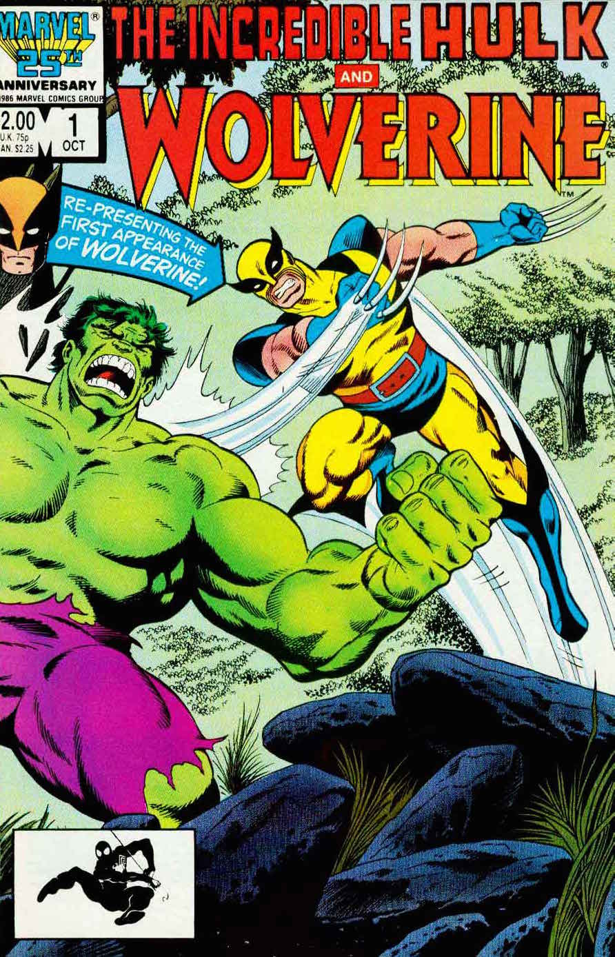 Incredible Hulk and Wolverine #1 marvel 1980s comic book cover art by John Byrne