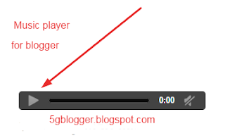 mp3 audio music player for blogger
