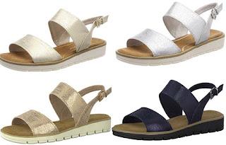 sandalias mujer en 4 colores metalizados