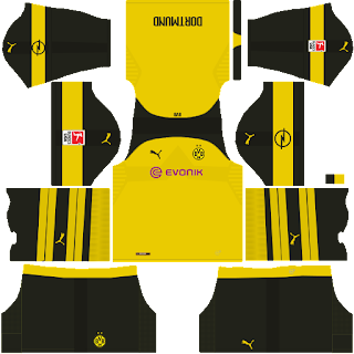 Borussia Dortmund Dream League Soccer fts 2019 DLS FTS Kits and Logo