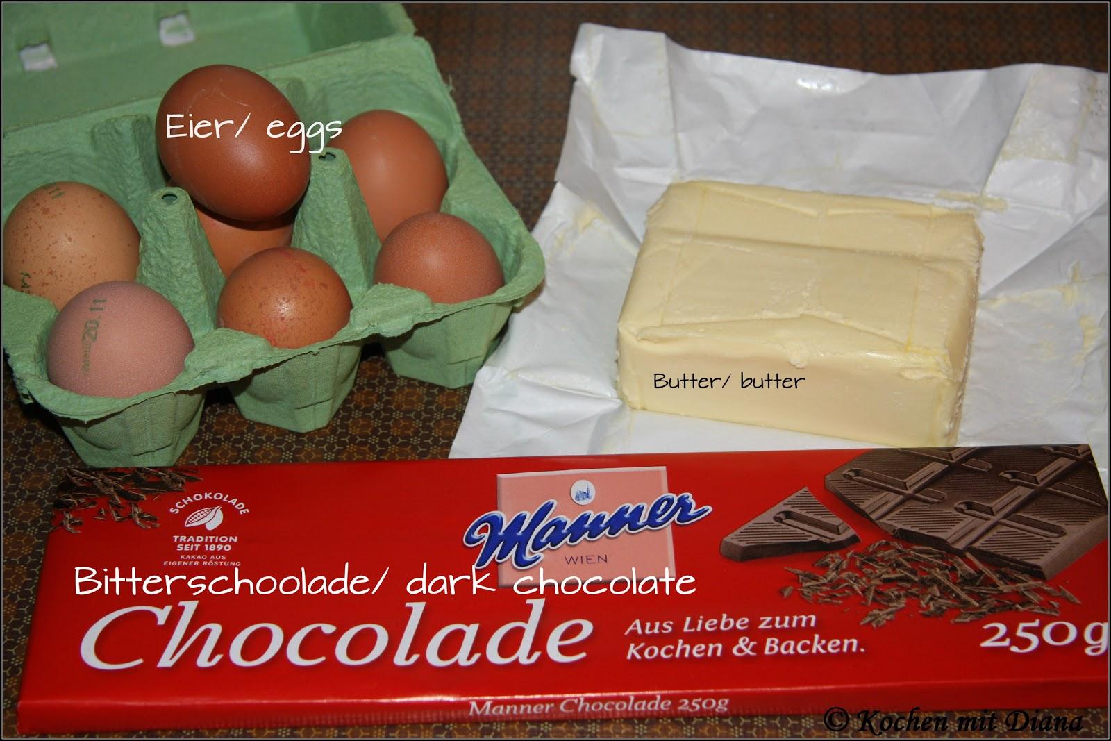 Zutaten Schokoladentorte