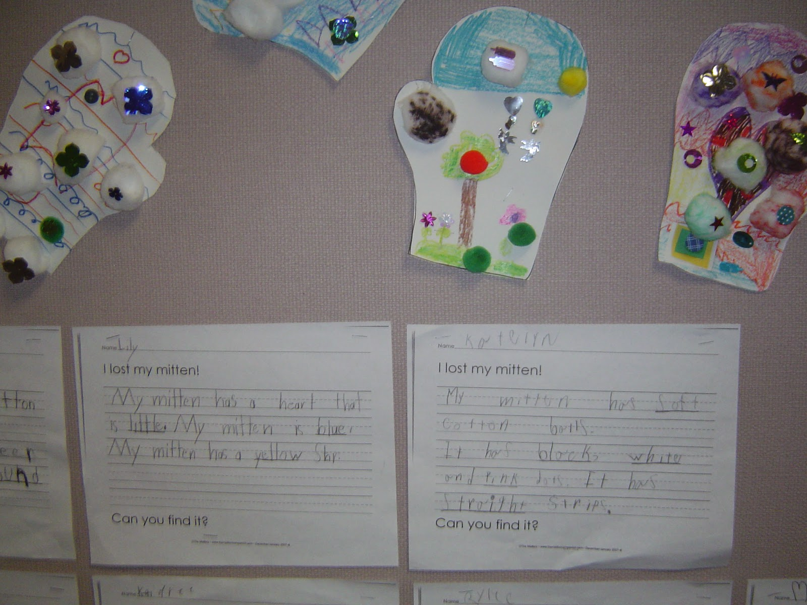 Mrs T S First Grade Class The Missing Mitten Mystery