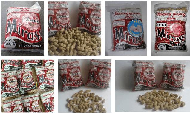 kacang mirasa snack khas purbalingga