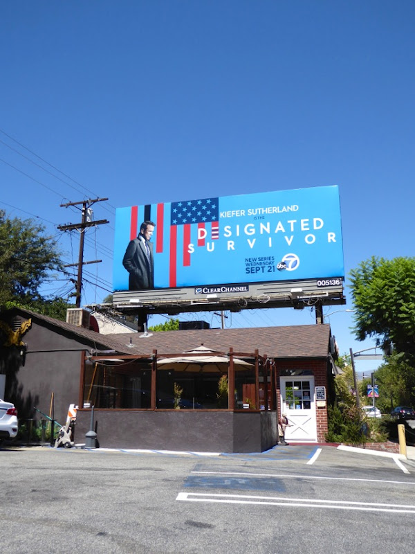 Designated Survivor series launch billboard