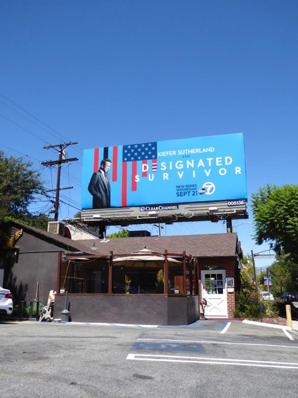 Designated Survivor series launch billboard