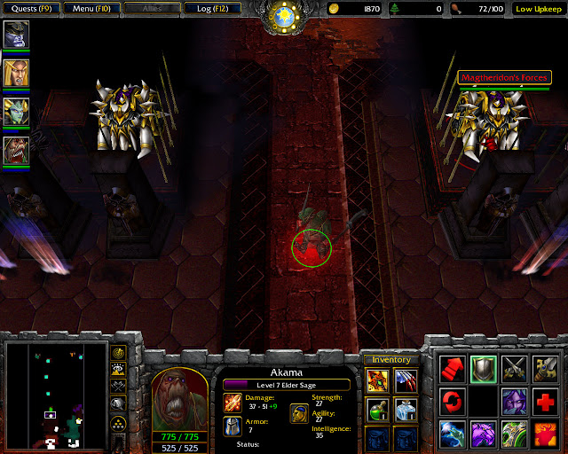 Lord of Outland Mission 15 | Akama Hero Screenshot | Warcraft 3: The Frozen Throne