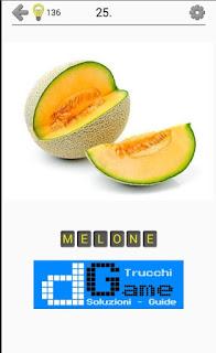 Soluzioni Frutti, verdure e noce livello 25