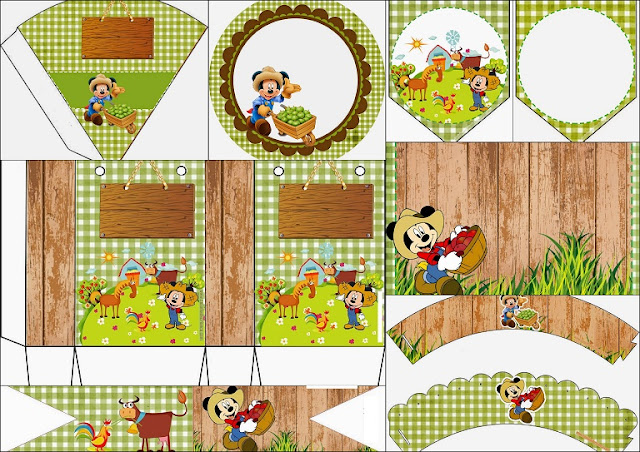 Farmer Mickey Free Printable Kit