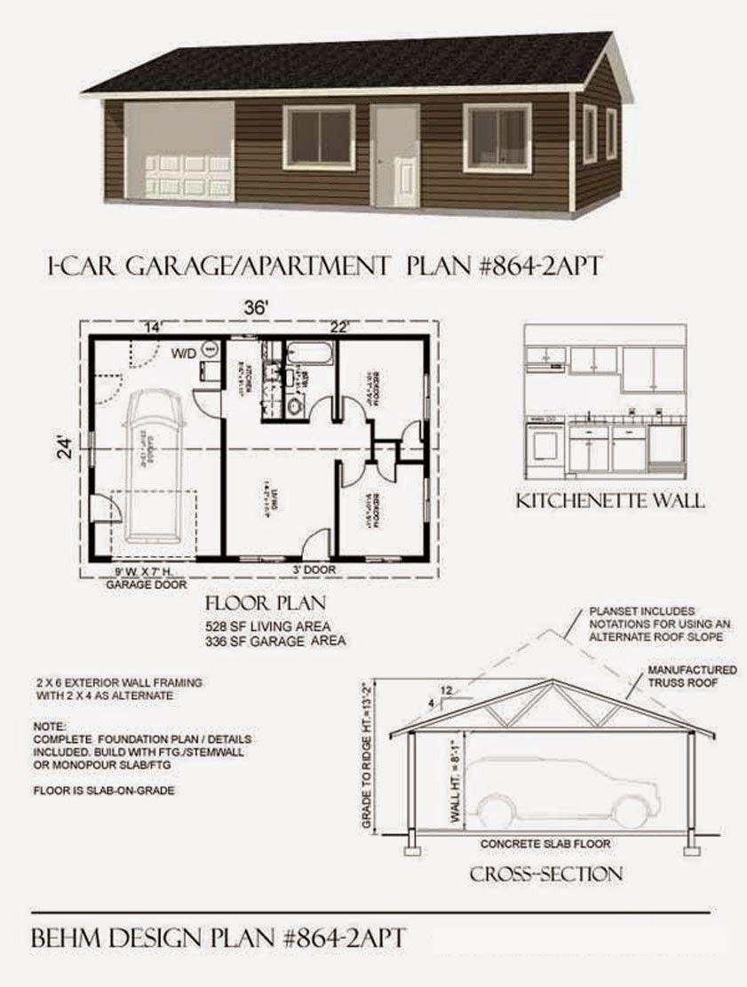 Garage Plans Blog Behm Design Garage Plan Examples Garage Plan – 36 X 24 Garage Plans