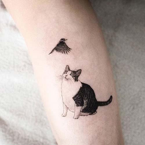 kedi dövmeleri cat tattoos 17