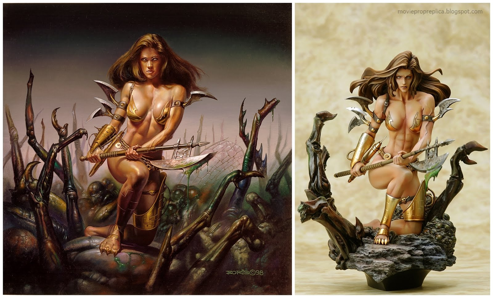 Monica's Axe by Boris Vallejo