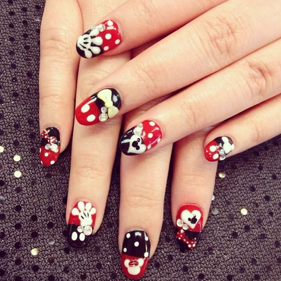 Best nail art blog most popular red nail art designs of 2016 this nail art design is famous for its best look you may apply this nail art design on short nails very smoothly red and blue both are nature colors which prinsesfo Gallery