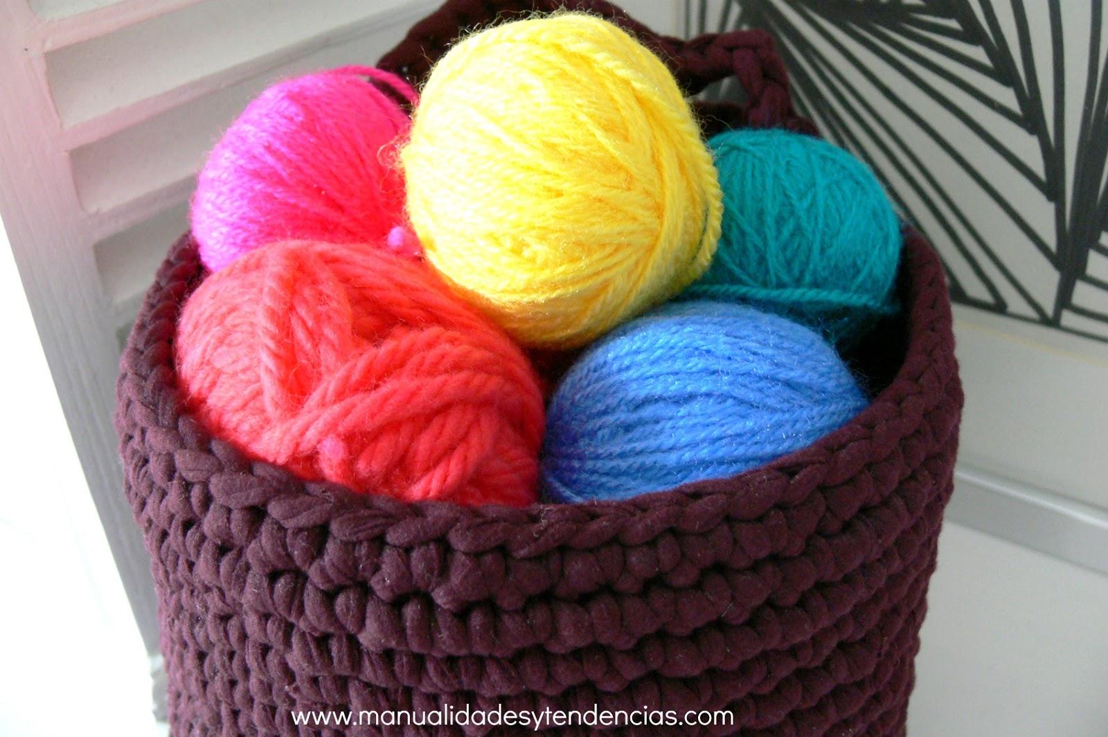 Manualidades y tendencias: Crochet: cesta de trapillo con patrón gratis