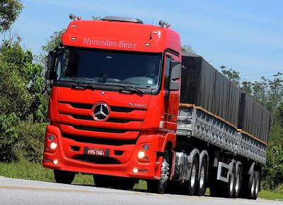 Vendas do extrapesado Actros da Mercedes-Benz crescem 350% no acumulado do ano, diz fabricante