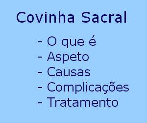 Covinha sacral fosseta sacral causas complicações tratamento