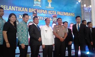 Akbar Alvaro Kukuhkan Kepengurusan BPC HIPMI Palembang