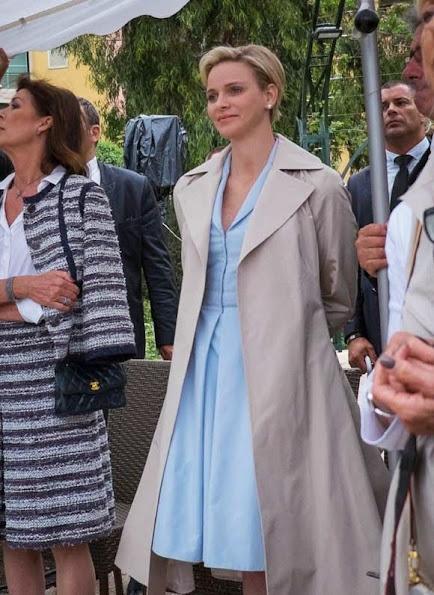 Prince Albert, Princess Charlene and Princess Caroline