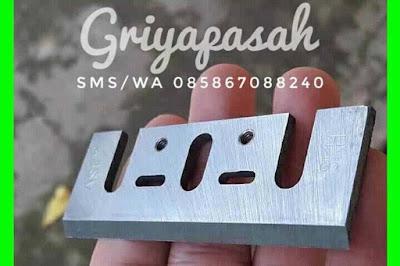 pisau parutan es batu manual kayu jati