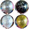 Balon Latex Metalik Printing HAPPY BIRTHDAY (DECOTEX)