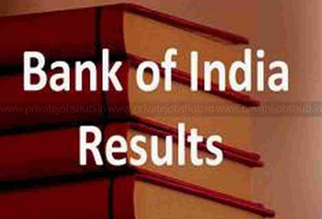 Bank Of India Results 2017–2018 Specialist Officers