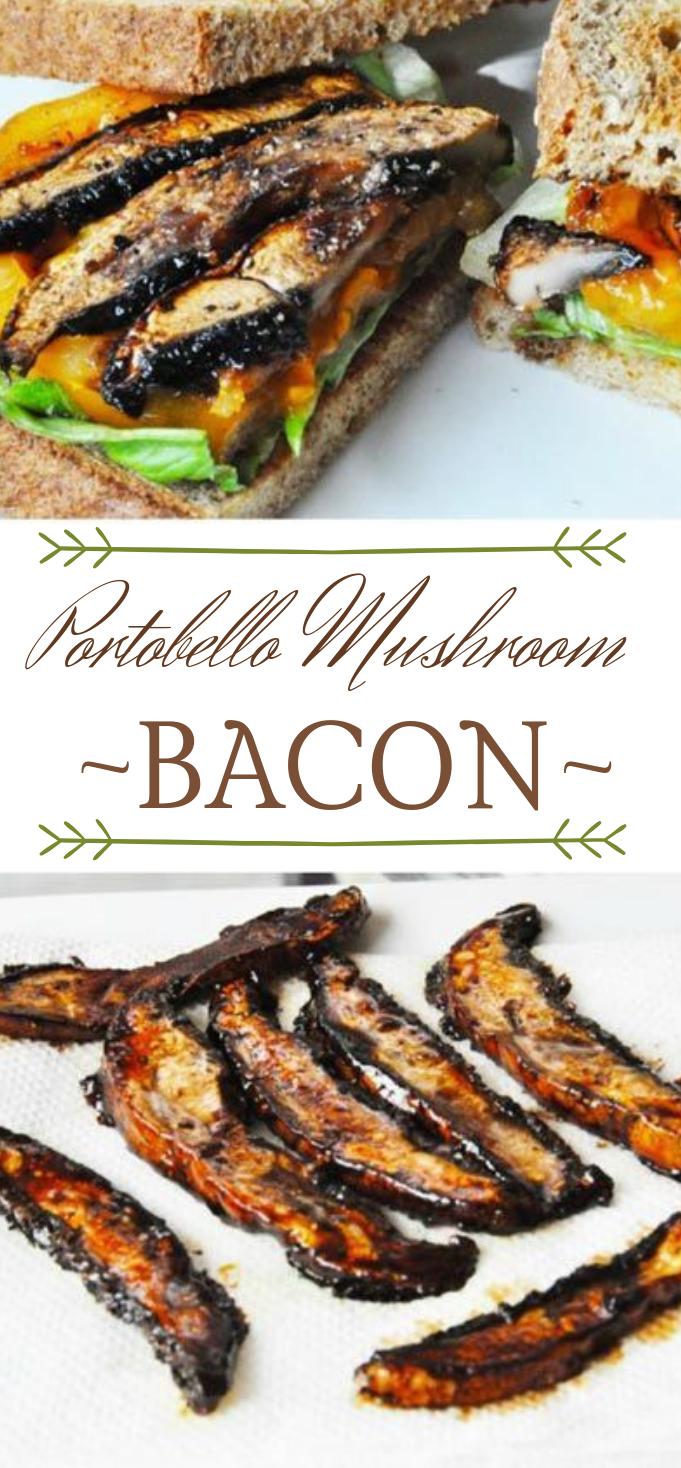 PORTOBELLO MUSHROOM BACON #mushroom #vegetarian