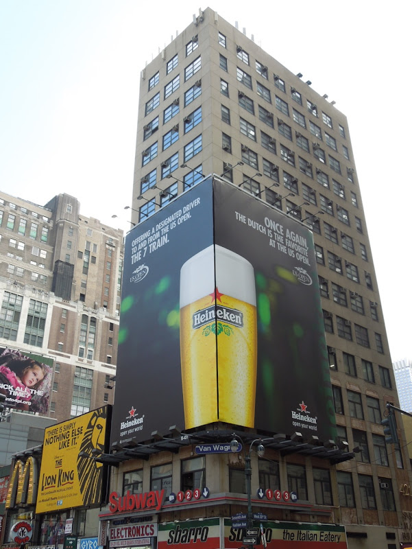 Heineken US Open 2012 billboards 7th Avenue NYC