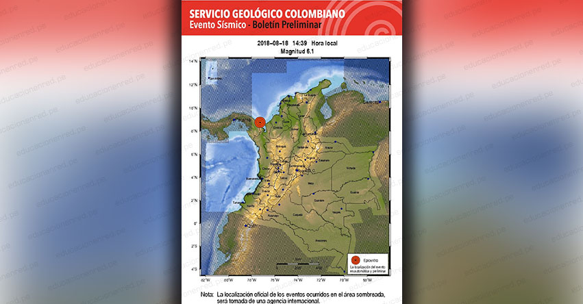 TERREMOTO EN COLOMBIA de Magnitud 6.1 (Hoy Sábado 18 Agosto 2018) Sismo Temblor EPICENTRO - Acandí - Necoclí - Antioquia - Unión Chocó - www.sgc.gov.co