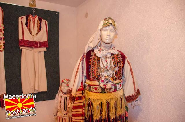 Folk costumes  - Ethnological museum - village Podmocani, Municipality of Resen