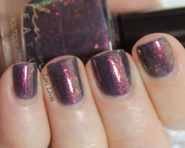 Femme Fatale Cosmetics Lantern Waste nail polish swatches & review