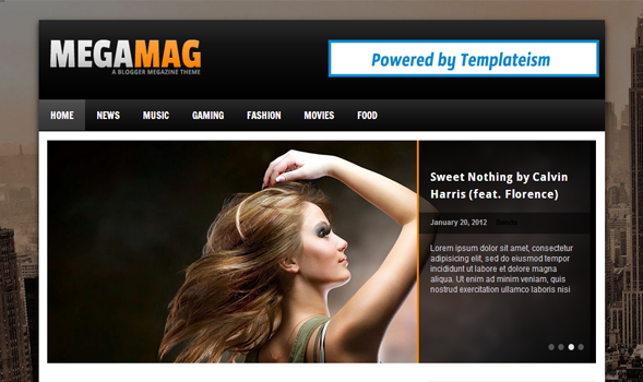 megamag blogger template - blogger templateworld