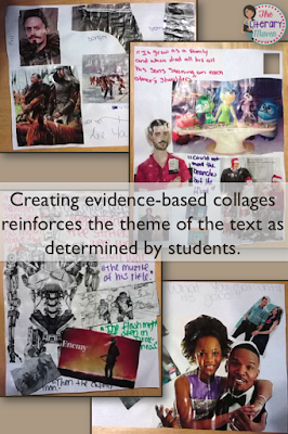 Theme is one of the concepts in literature that students struggle with most. Use this simple graphic organizer to help students determine the theme of any piece of writing and then create a collage of text and images to reinforce their theme's message about life.