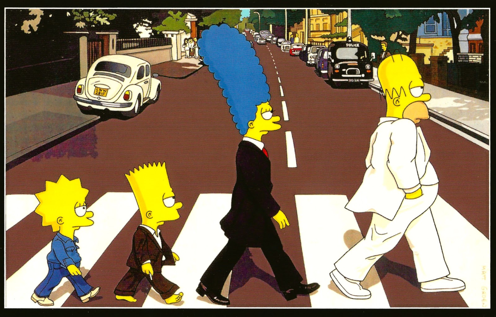 Image result for simpsons letter from the beatles