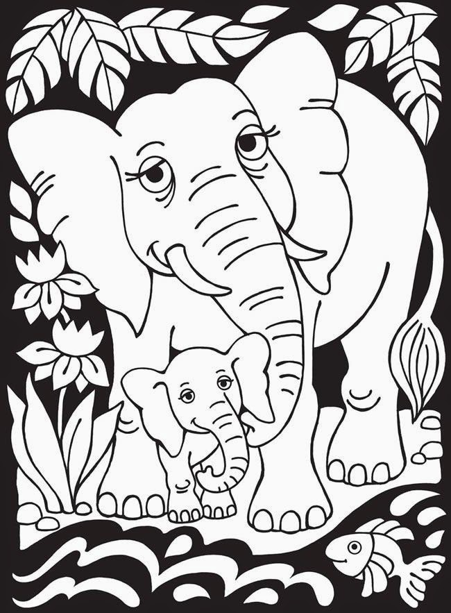 Fun Learning With Baby Elephant Coloring Pages Best Diy